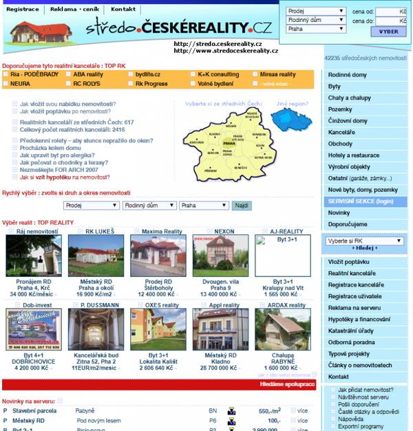 Ukázka webu z roku 2006