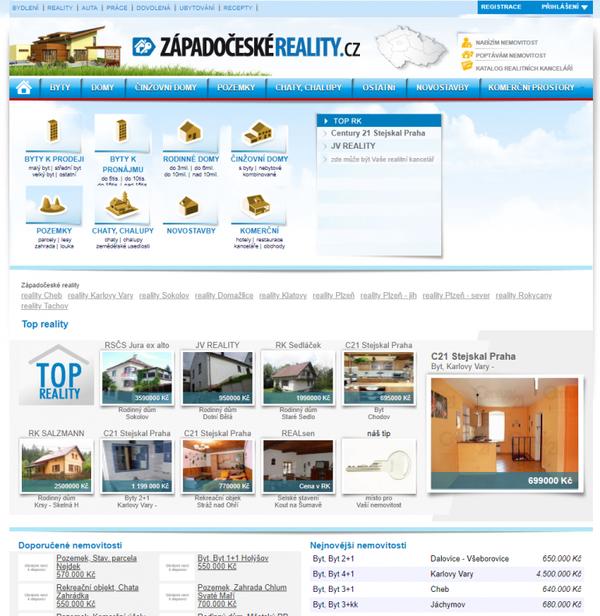 Ukázka webu z roku 2012