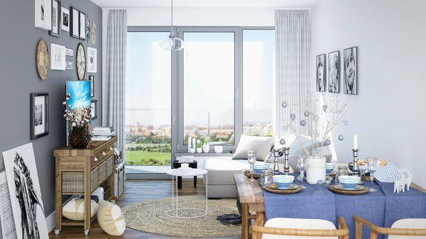 View Spořilov francouzská okna a podlahové vytápění