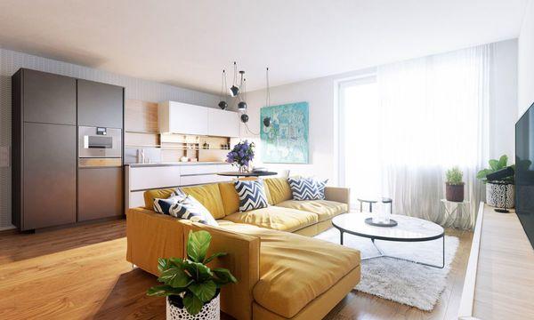 Tuchoměřické zahrady - interiér obývacího pokoje