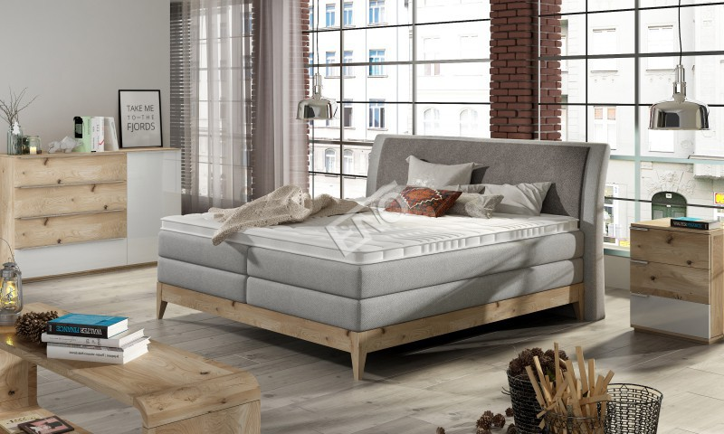 Boxspring Borneo massiv wood + topper