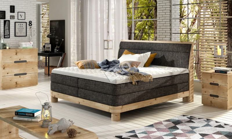 Boxspring Donna massiv wood + topper